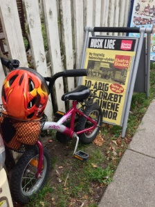 Kid's bike and news flyer